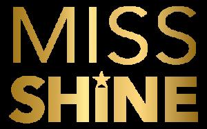 Miss Shine logo golden